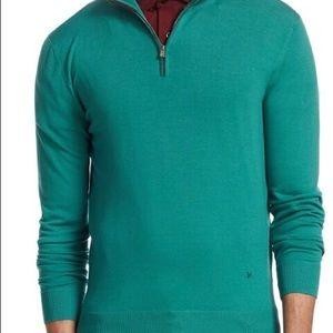 Isaia Quarter Zip Sweater Size M